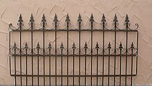 Schmiedeeisen Gartenzaun Zaun Metall Roma-Z100/200 Rost Roh Antik