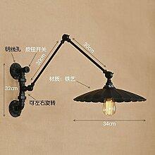 Schmiedeeisen langen Arm dekorative Wandlampe,
