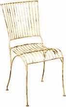 Schmiedeeisen Outdoor-Esszimmer Stuhl antik weiß