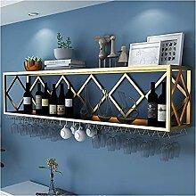 Schmiedeeisen Wandmontierter Weinregal, Home Bar