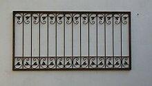 Schmiedeeisen Zaun Antik Eisen Gartenzaun Metall Monaco-Z60/200 roh Rost 200 cm