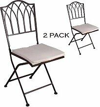 schmiedeeiserne Stuhl aus Eisen, Gartenstuhl,