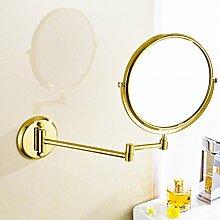 Schminkspiegel/Europäische wandhängende Bad Kosmetikspiegel/Faltung Wandspiegel/Antike versenkbare Spiegel-A