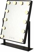 Schminkspiegel mit LED-Licht, dimmbar, Größe