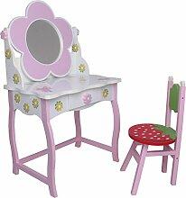 SCHMINKTISCH #264 Frisiertisch Kinderschminktisch Kindertisch Sitzgruppe Hocker habeig®