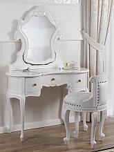 Schminktisch mit Sessel Esmeralda Moderner Barock