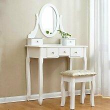 Schminktisch-Set mit Spiegel Lily Manor
