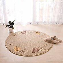 Schminktisch Teppich / Wohnzimmer Sofa Couchtisch Teppich / Schlafzimmer weiß runde Teppich hellbraun Bettdecke / Dicke 12mm zweifarbig Teppich ( Farbe : Braun , größe : Diameter 90cm )