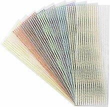 Schmuck-Bordüren, 10 Bogen in 10 Farben |