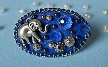 Schmuck Brosche Handmade Geschenk fur Frauen Accessoires fur Frauen blau schon