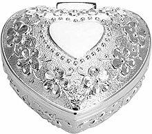 Schmuckdose Filigran L 9 cm Silber Plated versilber