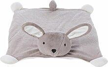 Schmuseteppich Hase, taupe- und ecrufarben 55x78