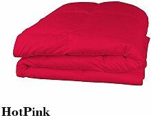 Schmusetuch–1Stück Faser Füllen 200gsm 550tc Italienisches Finish Hot Pink Solide Farbe Euro Double IKEA Größe 100% ägyptische Baumwolle–von Paradise Overseas
