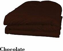 Schmusetuch–1Stück Faser Füllen 200gsm Fadenzahl 1.200Italienisches Finish braun/schokolade Farbe UK Betten Größe 100% ägyptische Baumwolle–Durch Paradies Overseas