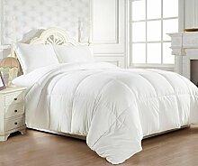 Schmusetuch–1Stück Faser Füllen 200gsm Set Italienisches Finish Weiß Massiv Farbe UK Betten Größe 100% ägyptische Baumwolle–von Paradise Overseas