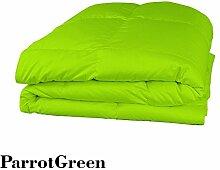 Schmusetuch–1Stück Faser Füllen 300gsm 550tc Italienisches Finish Parrot Grün Farbe uk-small Double Größe 100% ägyptische Baumwolle–Durch Paradies Overseas