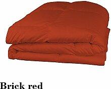 Schmusetuch–1Stück Faser Füllen 300gsm 550tc italienischen Finish ziegelrot Farbe UK Betten Größe 100% ägyptische Baumwolle–Durch Paradies Overseas