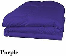 Schmusetuch–1Stück Faser Füllen 300gsm 600tc Italienisches Finish lila Farbe UK Betten Größe 100% ägyptische Baumwolle–Durch Paradies Overseas