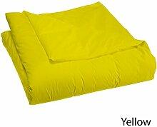 Schmusetuch–1Stück Faser Füllen 300gsm 600tc Italienisches Finish gelb Farbe Euro Double IKEA Größe 100% ägyptische Baumwolle–Durch Paradies Overseas