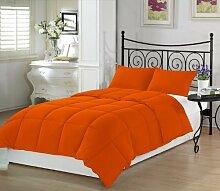 Schmusetuch–1Stück Faser Füllen 300gsm 600tc Italienisches Finish orange Farbe UK Betten Größe 100% ägyptische Baumwolle–Durch Paradies Overseas