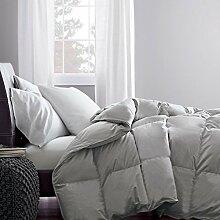 Schmusetuch–1Stück Faser Füllen 300gsm Fadenzahl 1.200Italienisches Finish Silber Grau Farbe uk-king Größe 100% ägyptische Baumwolle–Durch Paradies Overseas