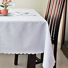 Schmutzabweisende türkische weiße Tischdecke aus