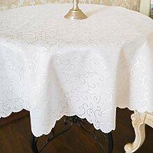 Schmutzabweisende weiße türkische Tischdecke aus