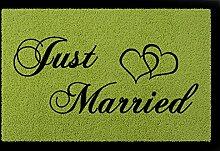 SCHMUTZMATTE Fußmatte JUST MARRIED Hochzeit