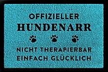 SCHMUTZMATTE Fußmatte OFFIZIELLER HUNDENARR