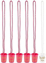 Schnapsbecher-Halskette von Blue Panda (6 Stück)