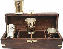Schnapsbecher-Set in edler Holzbox mit