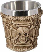 Schnapsbecher Totenkopf 4 Motive zur Auswahl, modell:Totenkopf mit Knochen