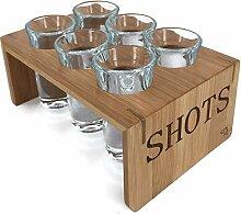 Schnapsglas Set mit Halter (6er Set) -