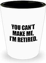 Schnapsglas zum Ruhestand, Geschenkidee zum