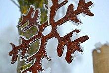 Schneeflocke Rost Edelrost Winter Deko Dekoration