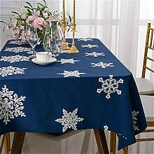 Schneeflocke Tischdecke Rechteck Leinen Baumwolle