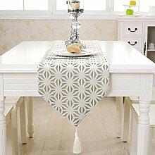 Schneeflocke Tischläufer, Einfarbige Tischdecke
