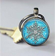 Schneeflocken-Schlüsselanhänger,