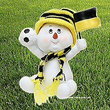 Schneekind schwarz gelb Fussballfan Geschenkidee