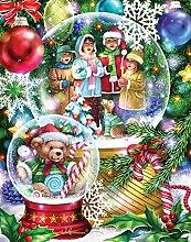 Schneekugel-Adventskalender (Countdown bis