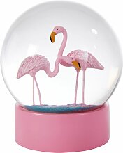 Schneekugel Flamingos
