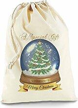 Schneekugel Merry Christmas personalisierbar groß