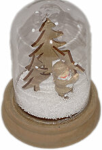 Schneekugel Santa, mit Stern, 10 cm
