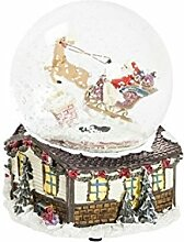 Schneekugel Weihnachten Musik mit Schnee