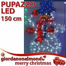 Schneemann beleuchtet Riesen mit Einstellbare LED