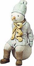 Schneemann Garten Statue aus Betonwerkstein