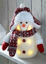 Schneemann mit LED-Beleuchtung Die Saisontruhe