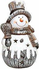 Schneemann Windlicht 39 cm groß Weihnachtsdeko