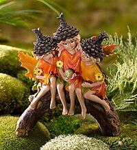 Schneepflug & Herzen Fairy Garden Tannenzapfen Pixies