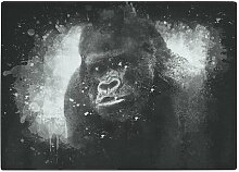 Schneidebrett Silberrücken-Gorilla aus Hartglas